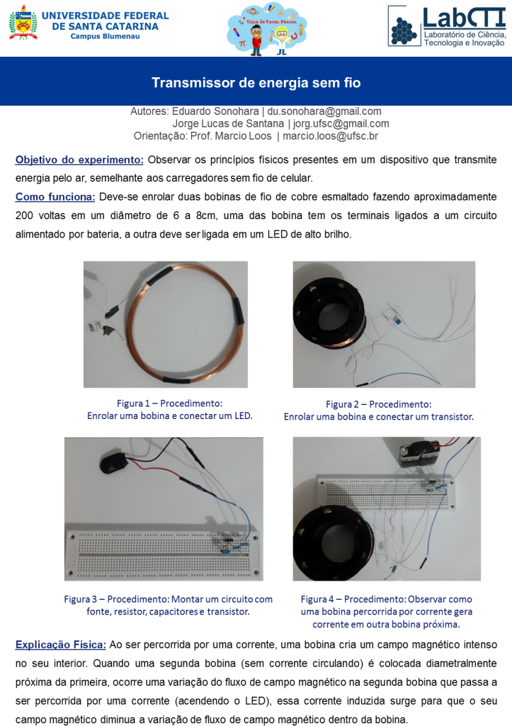 Transmissor de energia sem fio